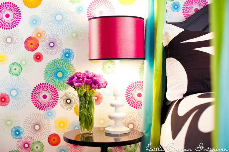 Colorful girl 39 s bedroom design by little crown interiors for Funky girls bedroom ideas