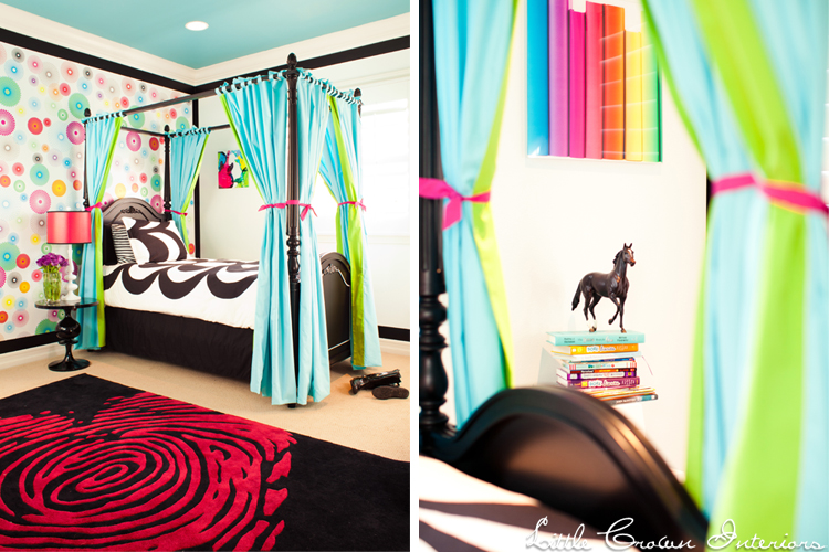Colorful Girl 39 S Bedroom Design By Little Crown Interiors