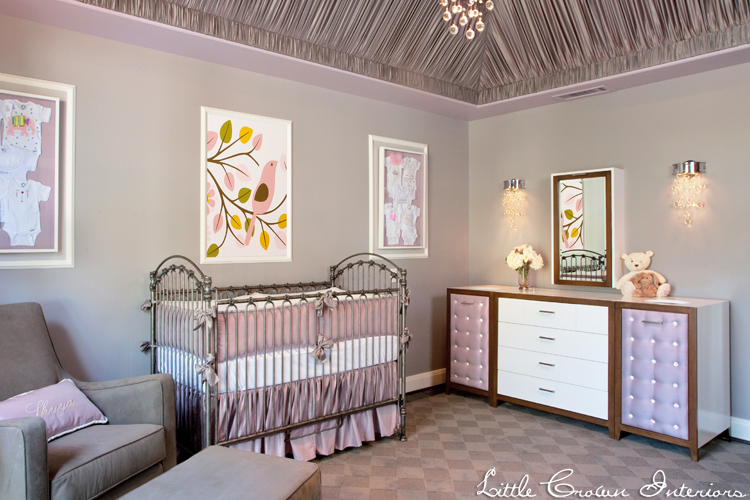 Gray And Lavender Nursery By Little Crown Interiors