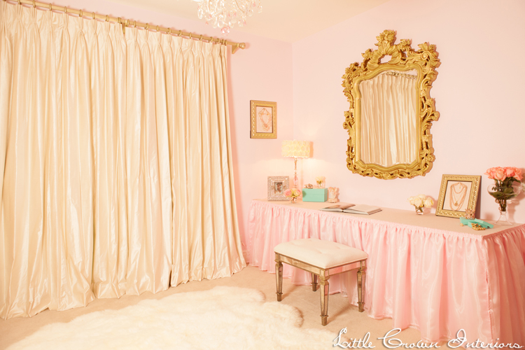 Ivory Pink Girl 39 S Nursery By Little Crown Interiors