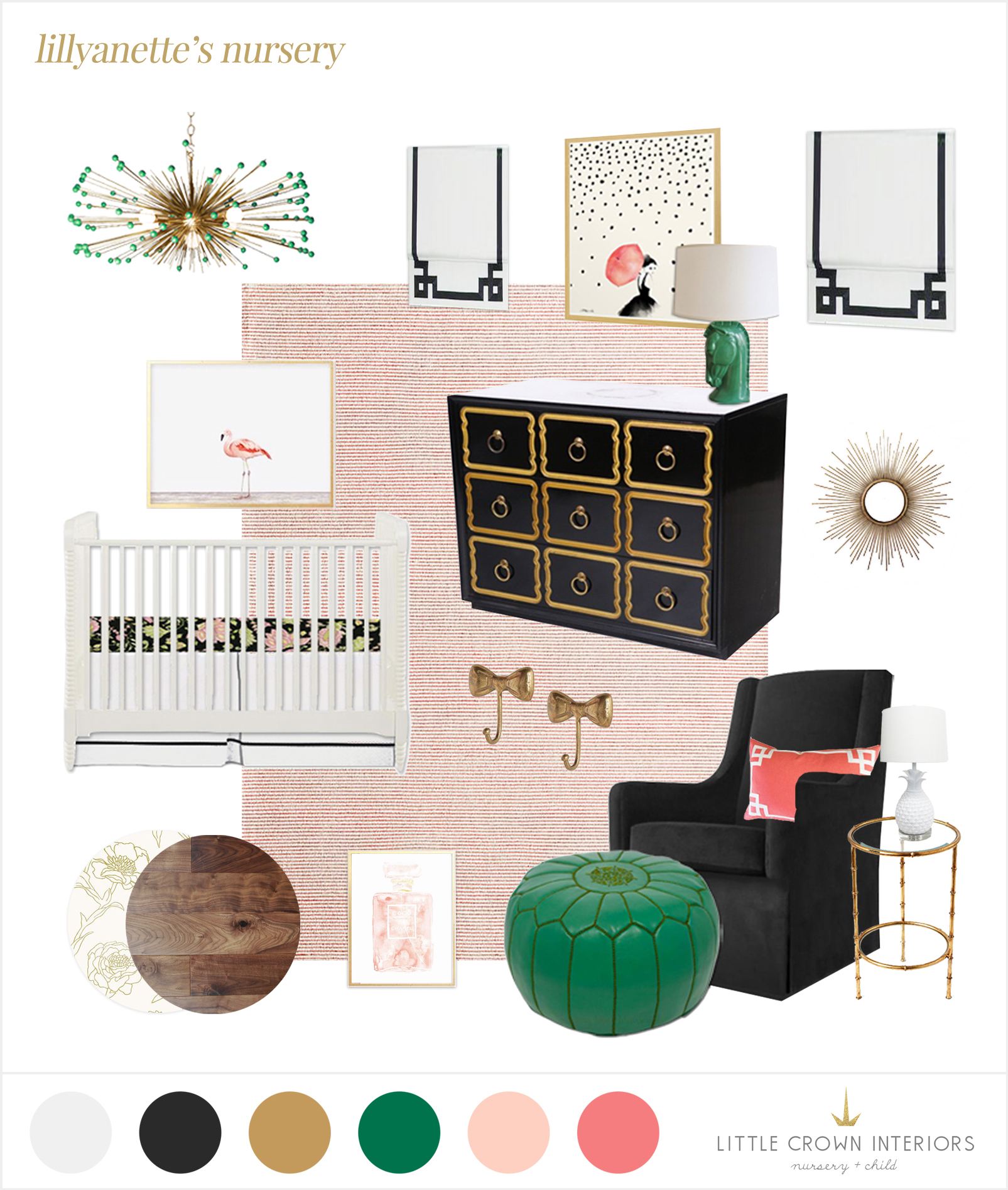 Hollywood regency nursery e-design