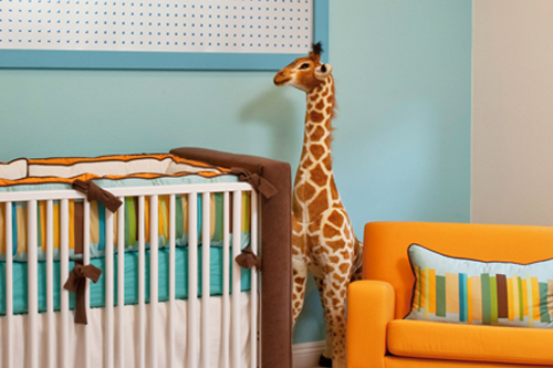Retro modern boy's nursery