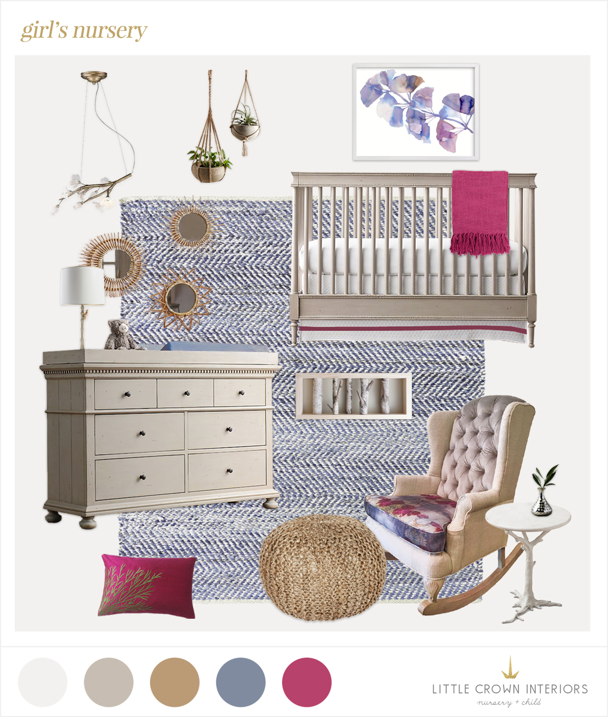 girl nursery edesign