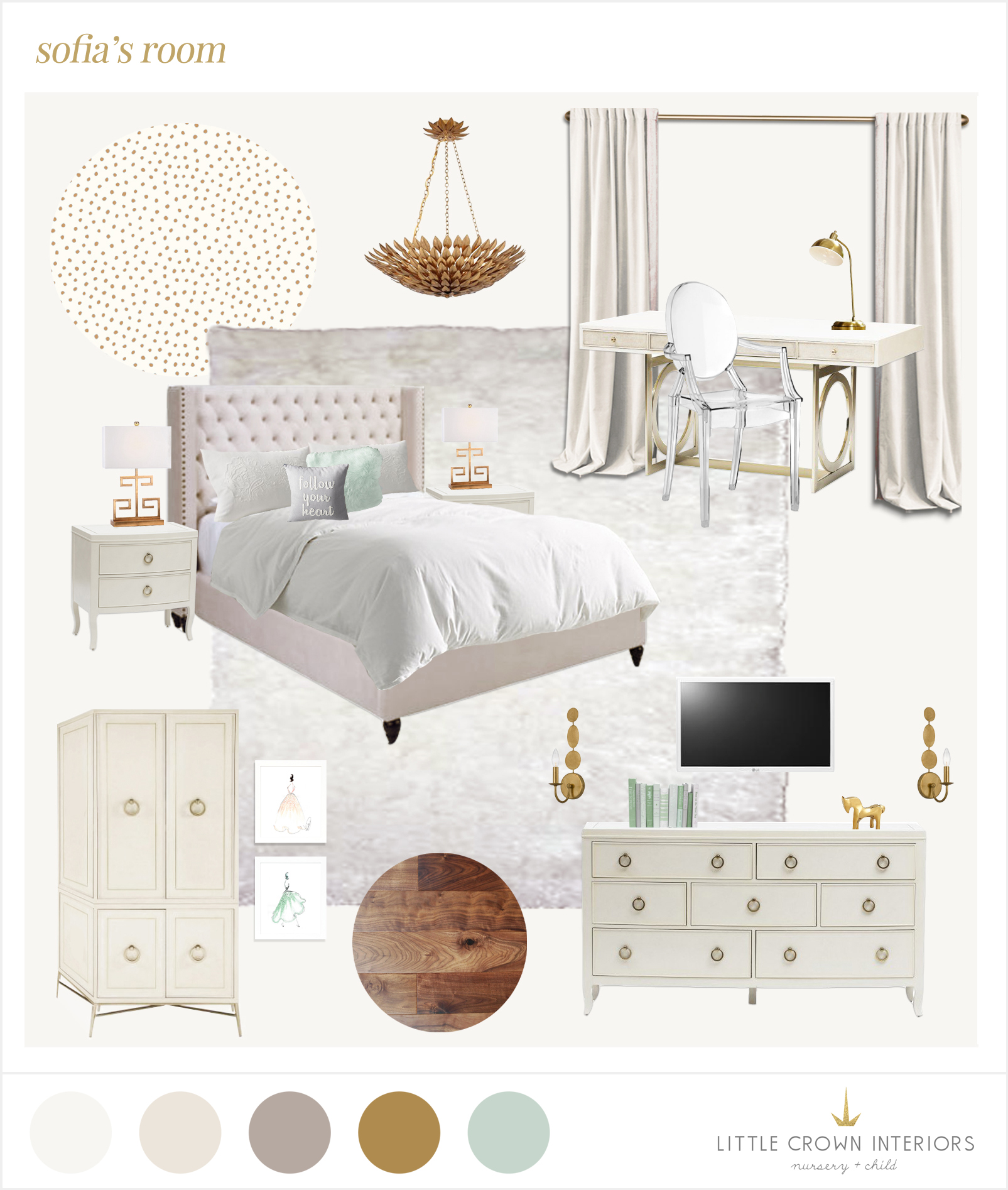 girls bedroom e-design