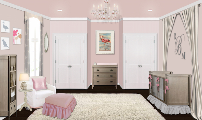 girly pink nursery design