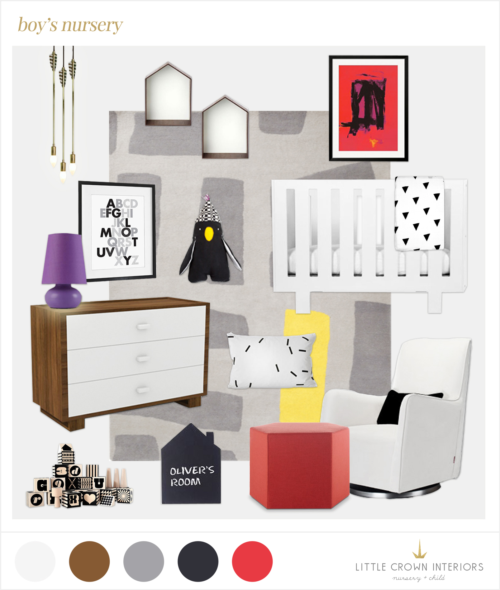 modern nursery edesign