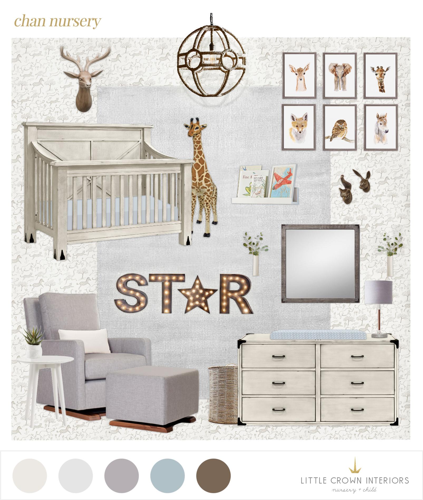 All White Nursery E-Design | Little Crown Interiors