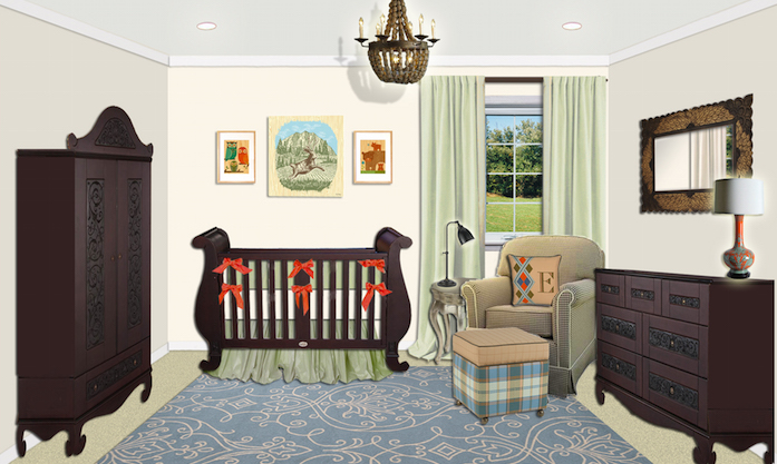Traditional boys nursery design