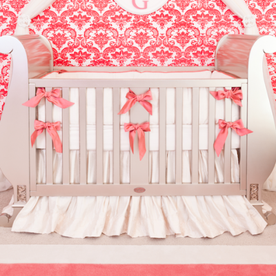 coral crib bedding