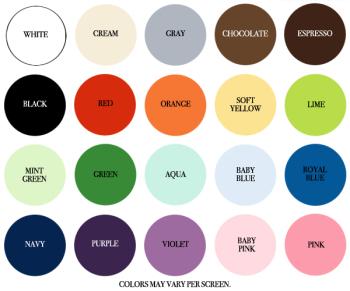 Wood Wall Monogram Colors