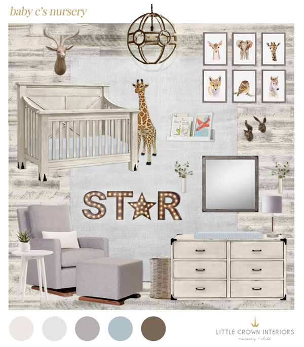 Nice Nursery E Design | Little Crown Interiors