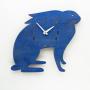 bunny nursery blue wall clock