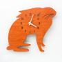 bunny nursery orange wall clock