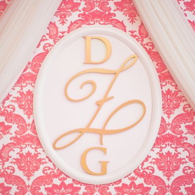 """Our Wood Wall Monograms are the perfect way to add a """"signature"""" statement to your nursery or child's room.   Available now at the Little Crown Interiors Boutique"""