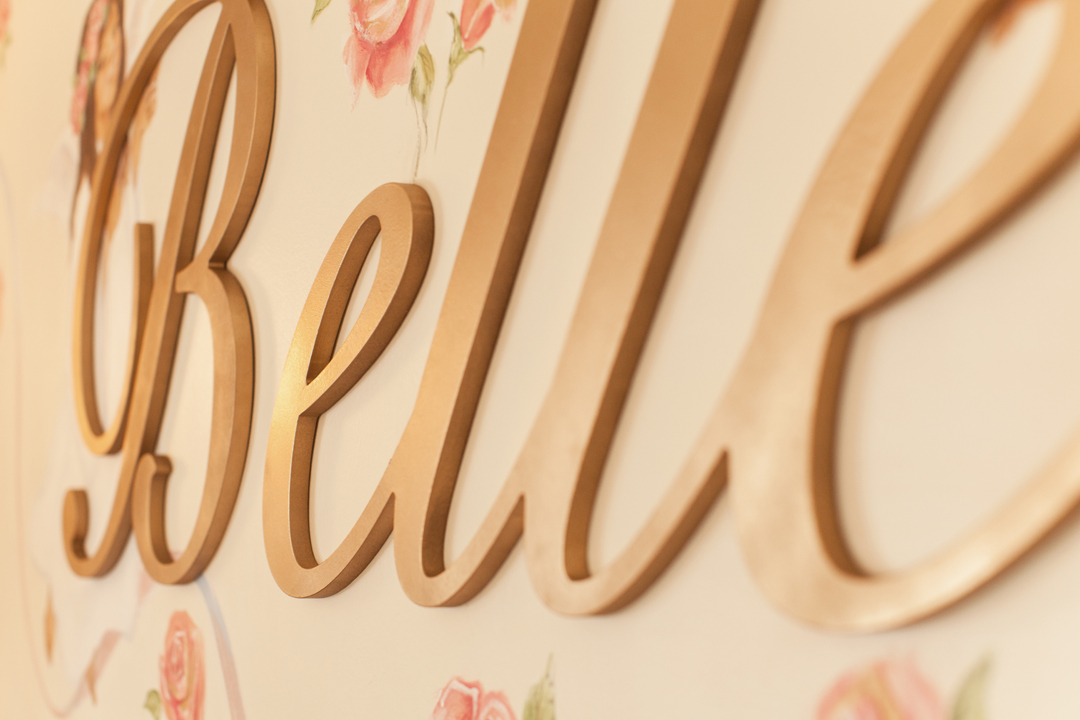 Custom wood wall letters | Little Crown Interiors