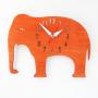elephant nursery orange wall clock