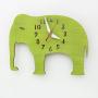 elephant nursery green wall clock