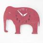 elephant nursery pink wall clock