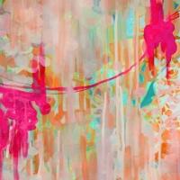 hot pink nursery wall art