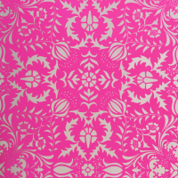 nursery hot pink damask wallpaper
