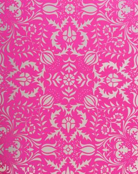 Dauphine Hot Pink Damask Wallpaper | Little Crown Interiors Shop