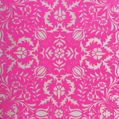 Dauphine Hot Pink Damask Wallpaper