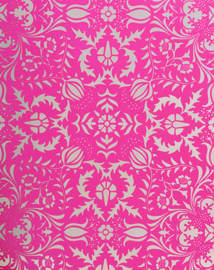 Dauphine Hot Pink Damask Wallpaper Little Crown Interiors