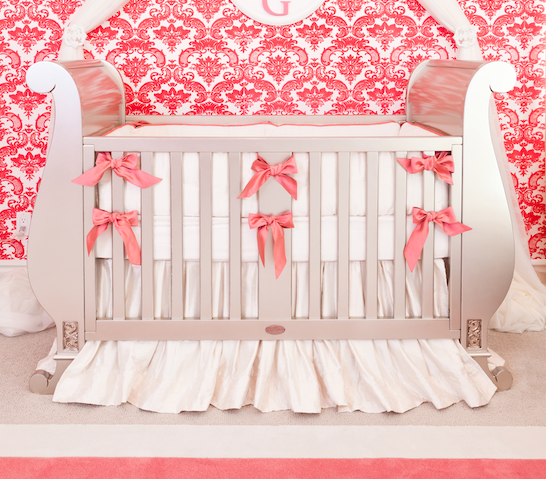 Custom Silk Crib Bedding
