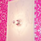 Acrylic chandelier wall sconce