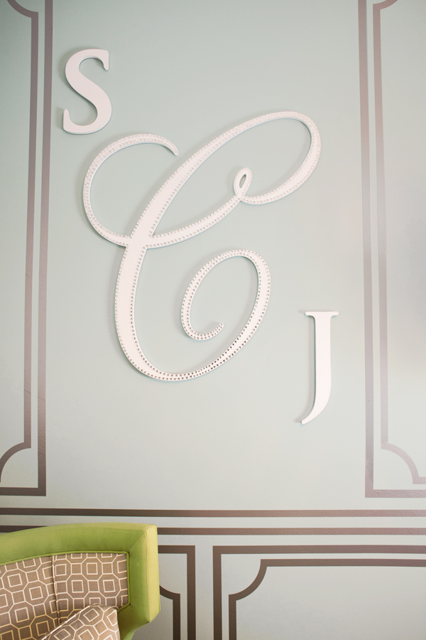 cursive wood wall monogram