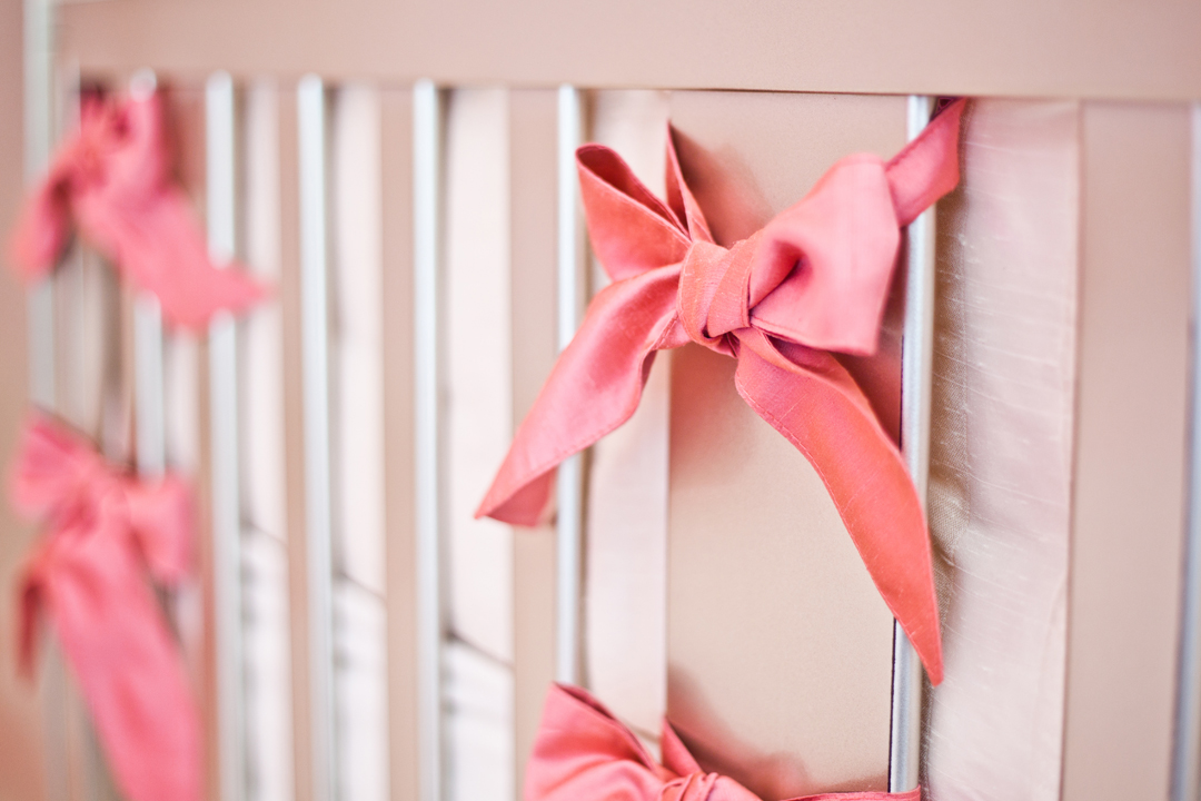 custom pink crib bedding