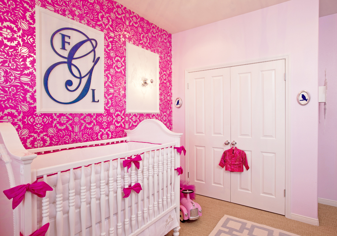 hot pink girl's nursery