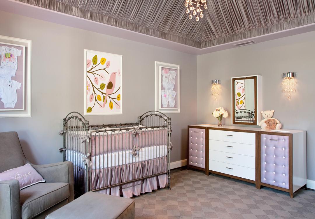 Gray and lavender nursery