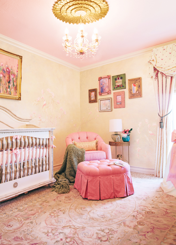Traditional Pink Girl's Nursery | Little Crown Interiors