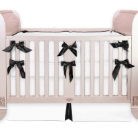 Black and white crib bedding