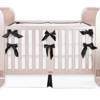 Black and white crib bedding