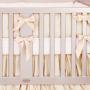 Gender neutral gold crib bedding
