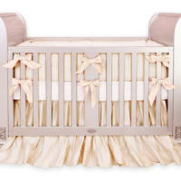 Gender neutral gold crib bedding