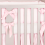 Baby pink silk crib bedding