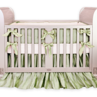 Silk Sage Green Crib Bedding