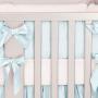 Silk Baby Blue Crib Bedding