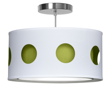 green geometric nursery pendant light