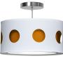Orange geometric nursery pendant light