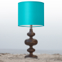 turquoise nursery table lamp
