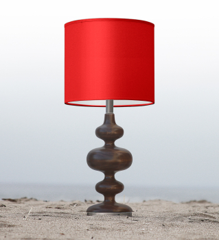 red kids table lamp
