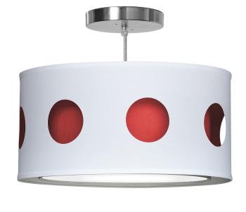 red geometric nursery pendant light