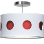 red geometric nursery pendant light