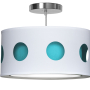 blue geometric nursery pendant light