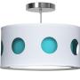 blue geometric nursery pendant light