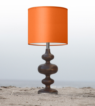 orange nursery table lamp